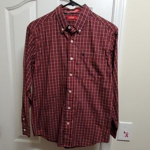 NWOT Youth Izod Button Up Plaid Dress Shirt